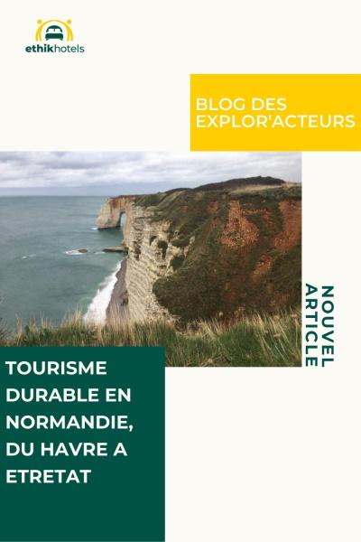 Epingle pinterest nouvel article sur le blog des explor'acteurs avec une photo des falaises d'etretat