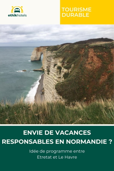 Epingle pinsterest Idée de programme entre Etretat et Le Havre avec une photo des falaises d'etretat au centre