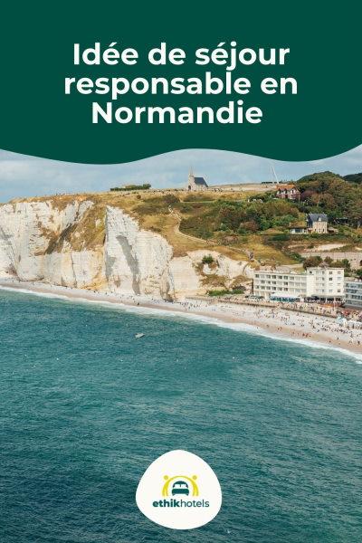 Plage d'Etretat en Normandie