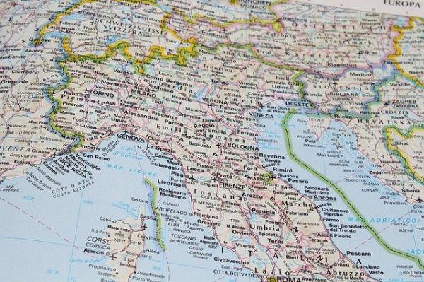 Préparer un road trip en Italie - carte italie du nord