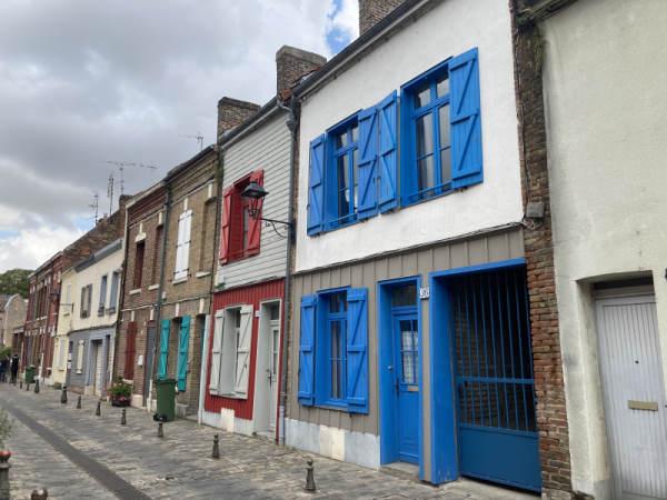 Old amiens - saint leu district coloured houses