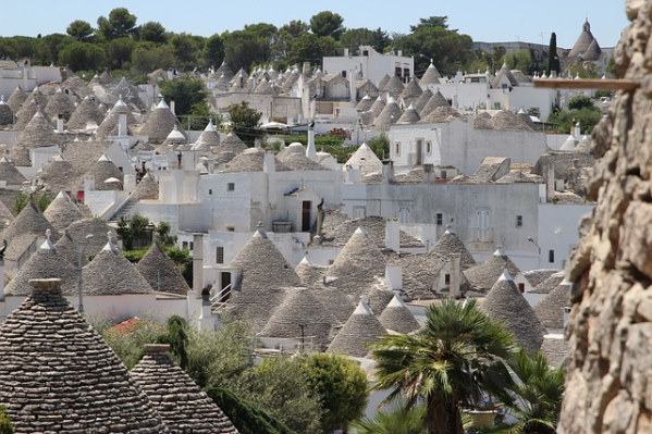 Photo of a trulli village in Puglia