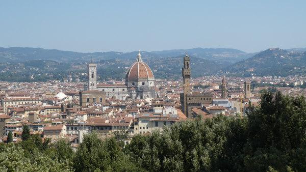 road trip en Toscane - photo du centre ville de Florence prise depuis Forte Belvedere
