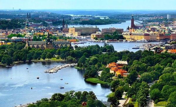 Stockholm vue du ciel